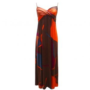 maxi hobo flora kung silk dress