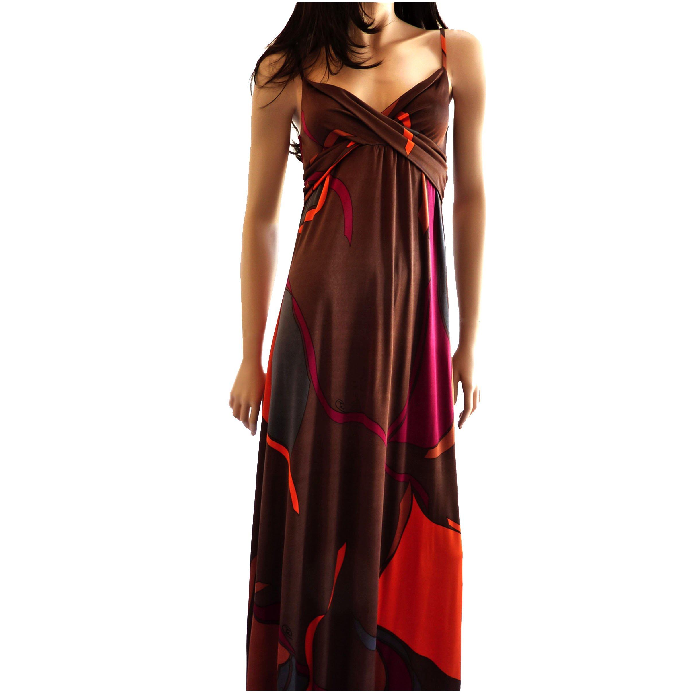 maxi hobo flora kung silk dress
