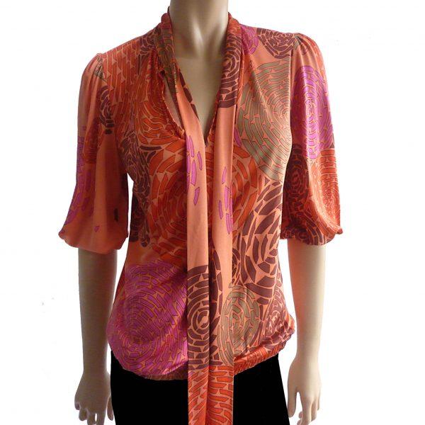 flora kung perfect kari silk blouse bell sleeves