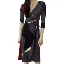 Catherine gray wrap dress