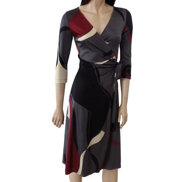 Catherine gray wrap dress