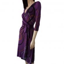 Catherine purple wrap dress