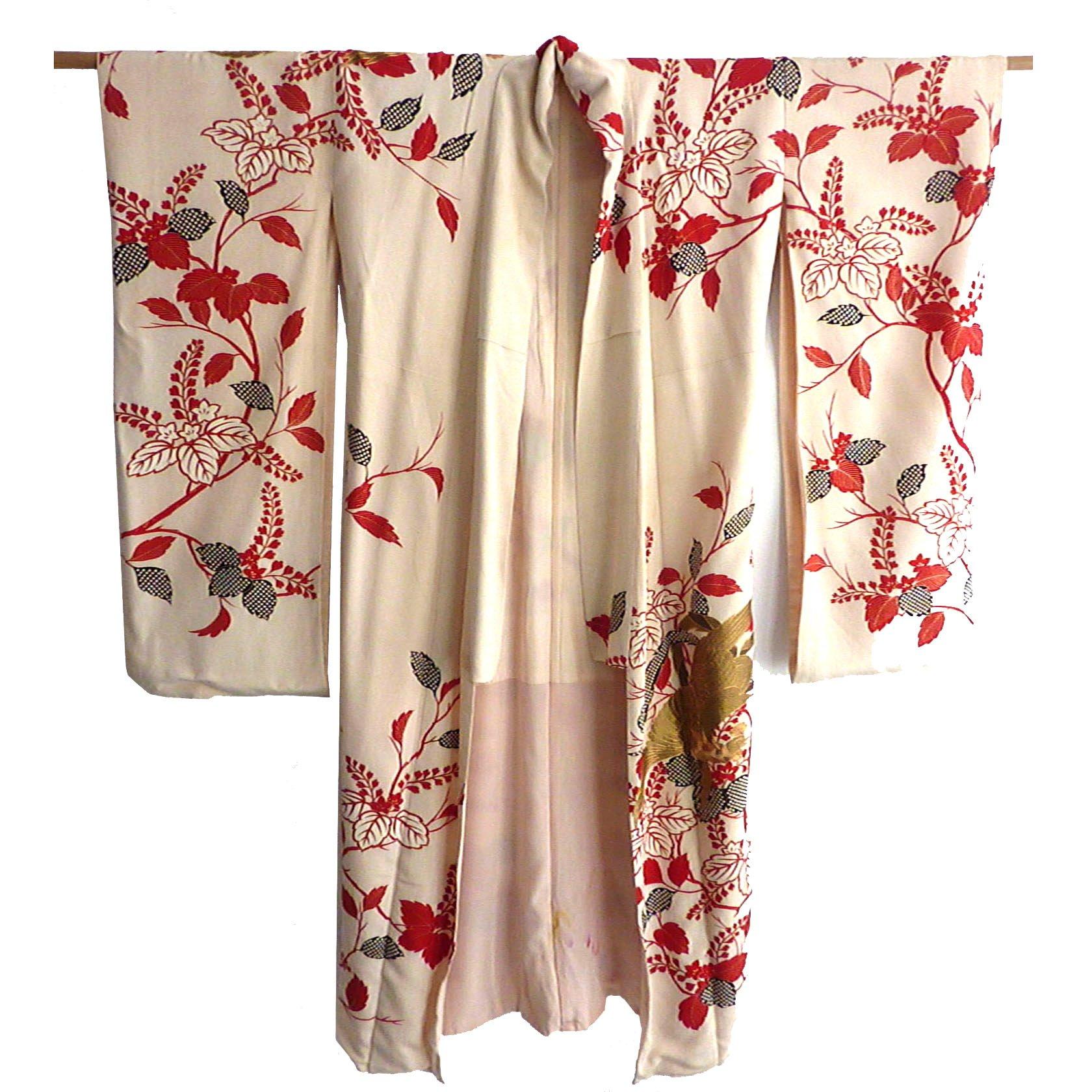 vintage silk kimono at selectioncoste.com
