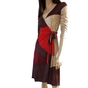 Catherine red wrap dress