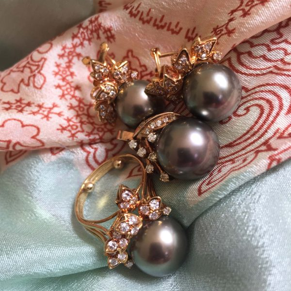 south sea diamond 18k parure @selectioncoste.com