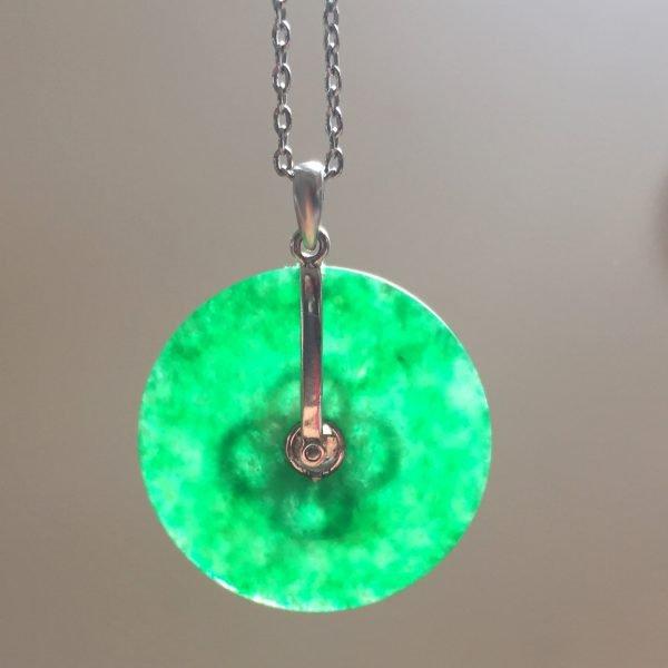 jadeite jade disk pendent @selectioncoste.com