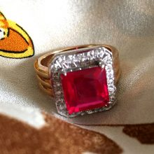 3-carat 18K ruby diamond ring @SelectionCoste.com