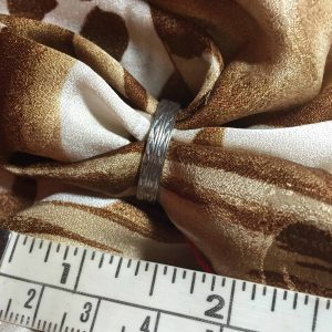 24k white gold wedding band