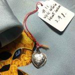 18k vintage carved heart locket @selectioncoste.com