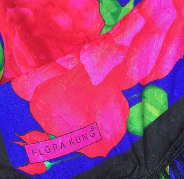 flora kung tassel silk scarf shawl @selectioncoste.com