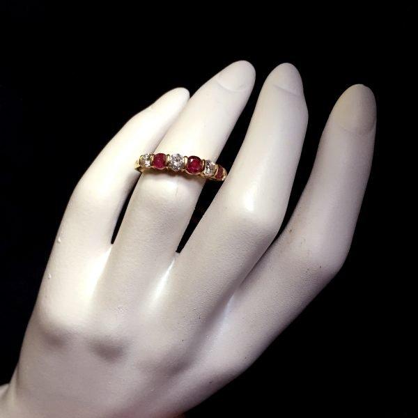 tiffany ruby diamond 18k eternity band