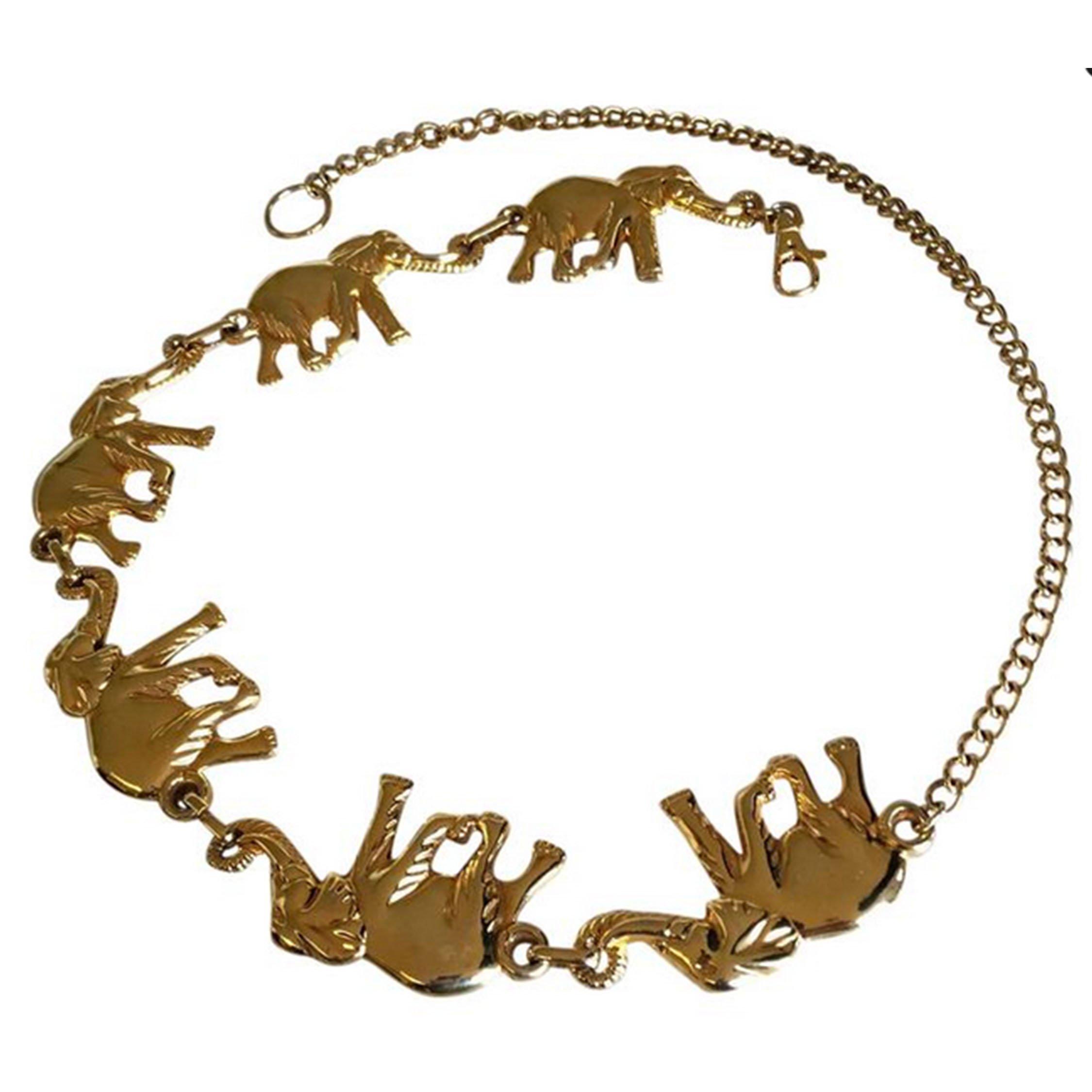 Vintage elephant figural belt