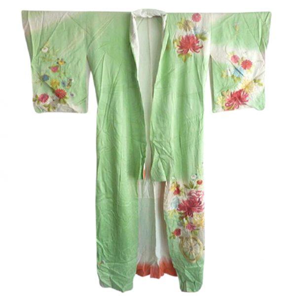 Green Floral Kimono