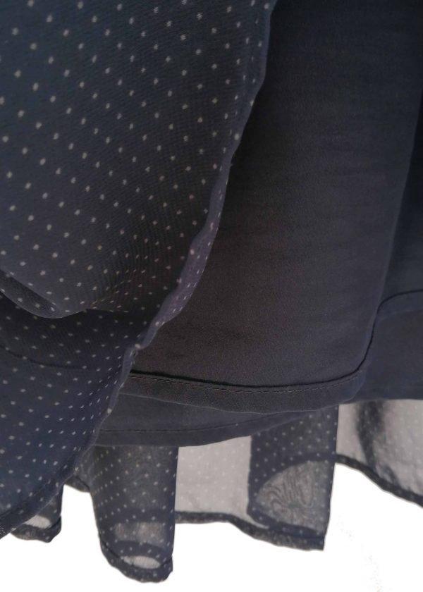 Uniqlo dark navy pindot skirt Sz S