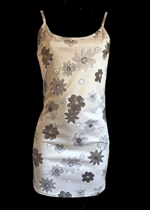 Neutral Floral Slip Dress