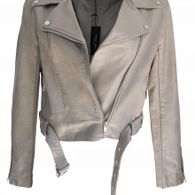 Romeo Juliet Couture Pearlescent Biker Jacket