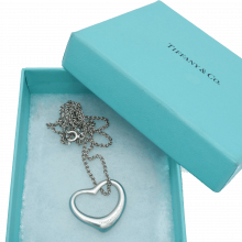 Tiffany & Co. Elsa Peretti Large Sterling Heart Necklace