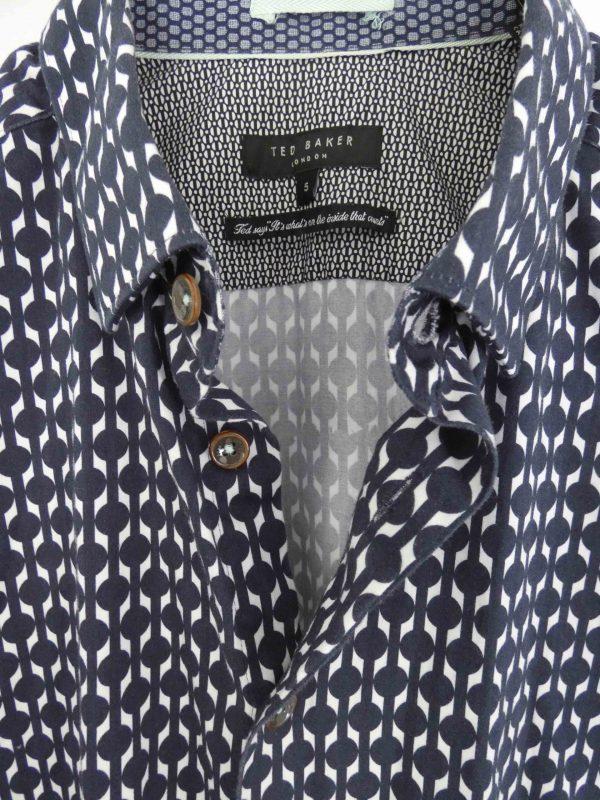 Ted Baker London Navy print shirt
