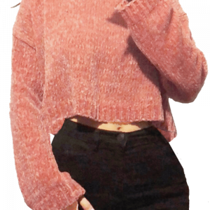 Yummy Cropped Chenille Sweater