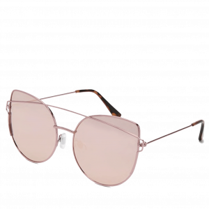 Mirrored Rose Gold Butterfly Sunglasses