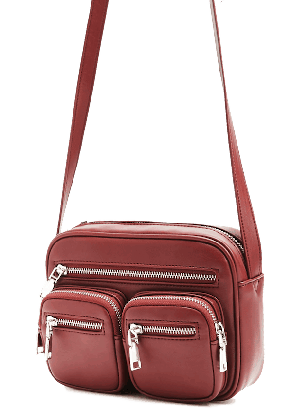 Crossbody red utility bag