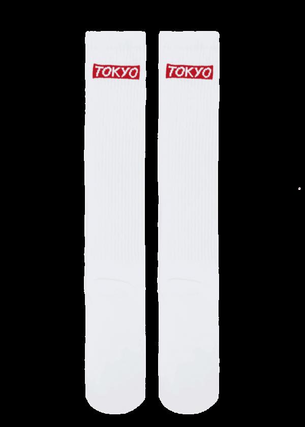 White Tokyo Knee-Highs