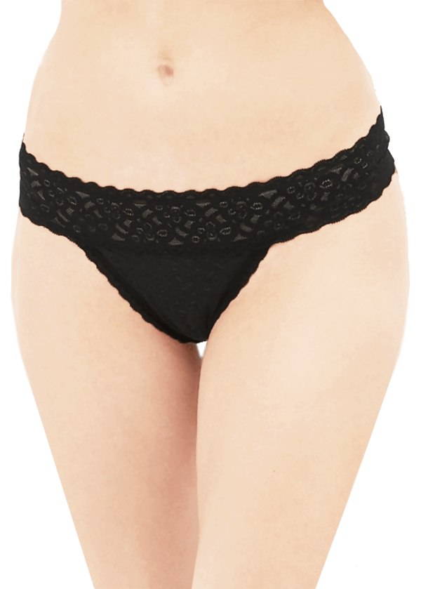 GAP Black Lace Thong