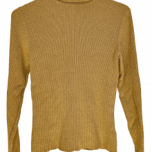 Gold Lurex Ribbed Turtleneck