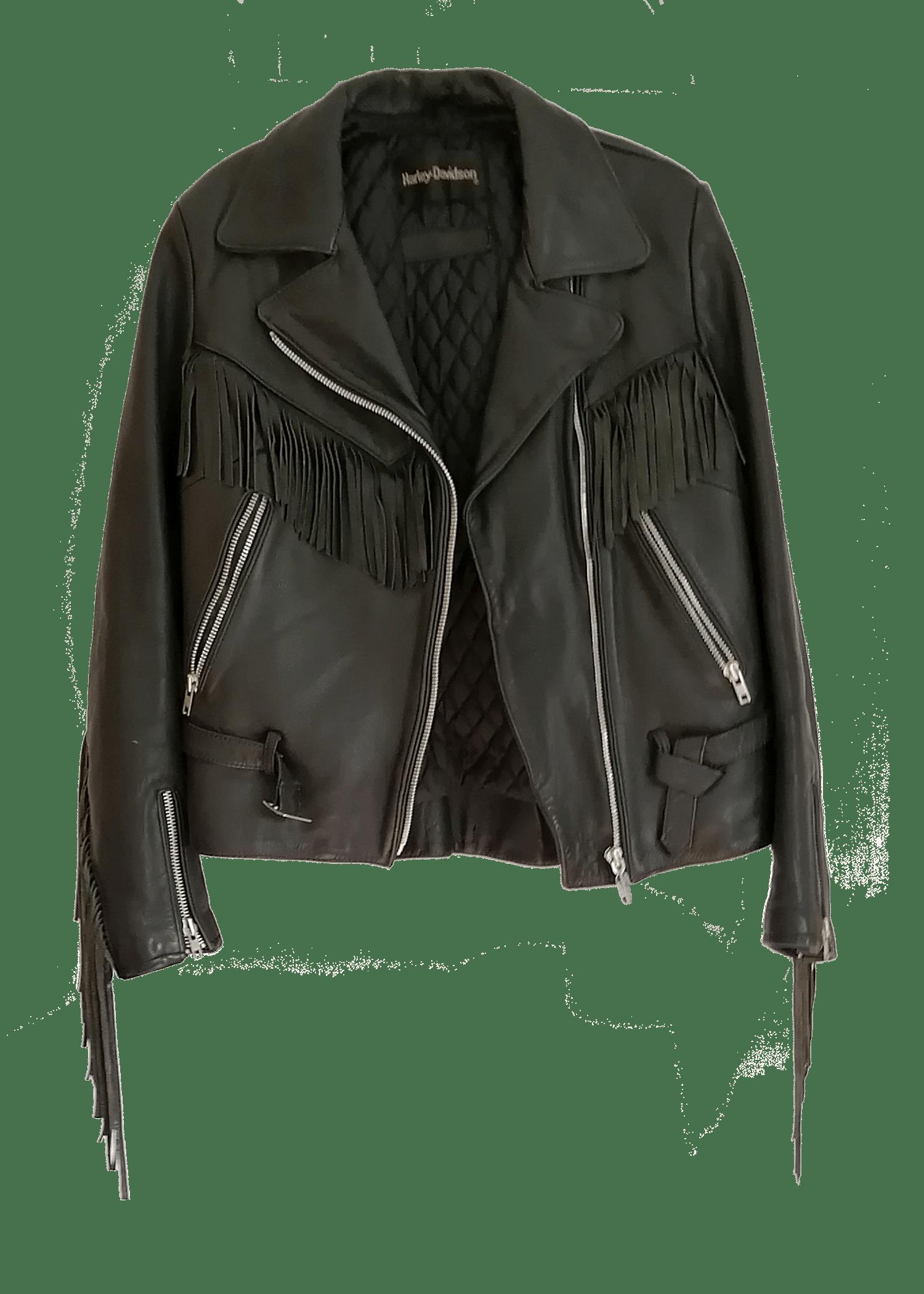 Harley Davidson Leather Fringe Jacket