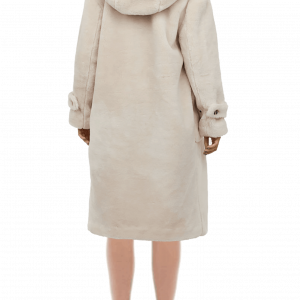 H&M Hooded Faux Fur Wool Teddy Coat
