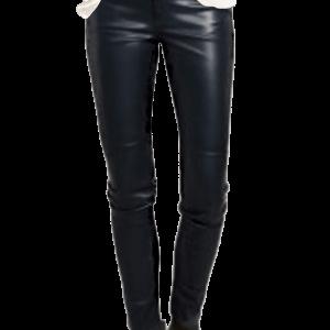 H&M Five-Pocket Vegan Leather Jeans