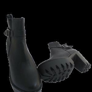 Lug Sole Platform Vegan Ankle Boots