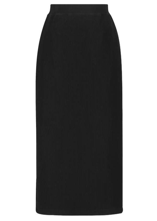 Uniqlo Black Ribbed Knit Tube Skirt