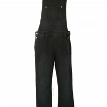 Black Stretchy Denim Overall