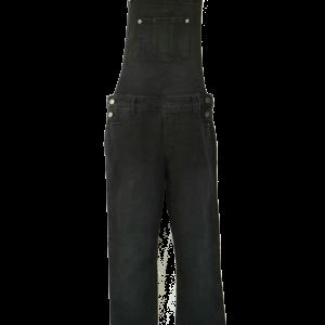 Black Stretchy Denim Overall