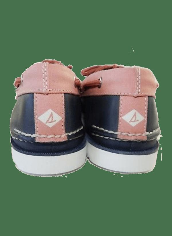 sherry leeward men pink navy boat shoes
