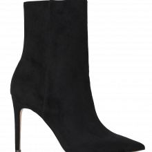 stiletto suede booties