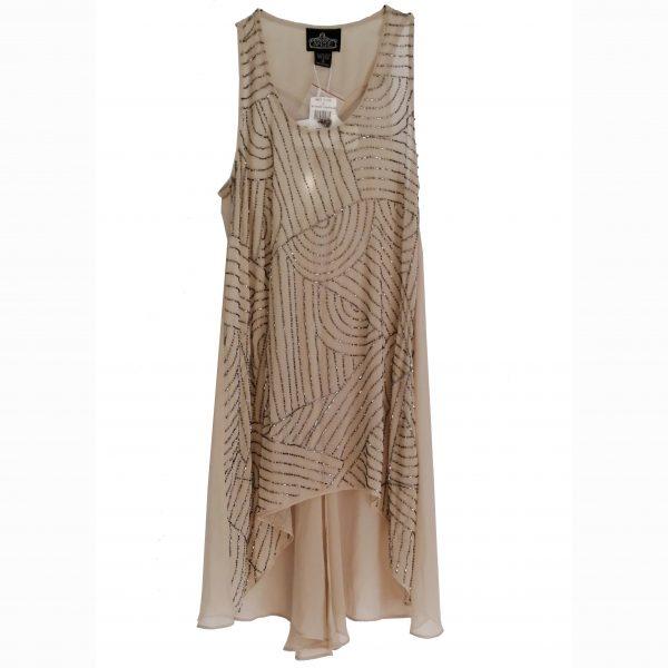 embellished boho nude dress