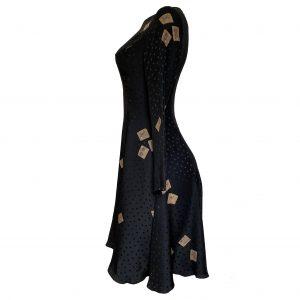 flora kung mahjong tile silk dress