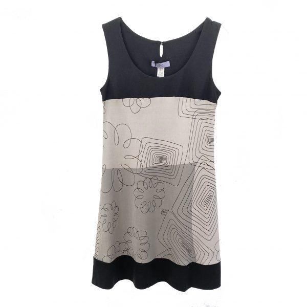 flora kung fk minimalist gray silk dress