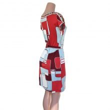 flora kung NINA red silk jersey shift