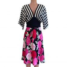 flora-kung-black-white-rose-mix-media-dress