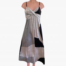 brie-scribble gray-flora-kung-silk-boho-maxi-dress