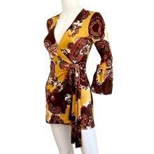 sydney-gold-print-mini-wrap-dress-flora-kung
