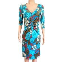 LENA-turquoise-silk-print-shift-dress-flora-kung-