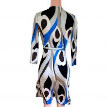 flora-kung-blue-gray-peacock-silk-jersey-print-wrap-dress