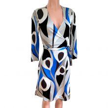 flora-kung-blue-peacock-print-silk-jersey-wrap-dress