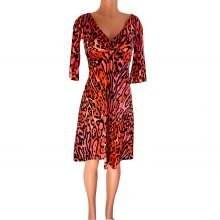 v-neck-flora-kung-pink-black-leopard-silk-dress